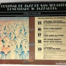 Fotos de Cantantes: 16° FESTIVAL DE JAZZ DE SAN SEBASTIÁN - JAZZALDIA 1981. CARTEL PROMOCIONAL CON EL PROGRAMA.. Lote 225201280