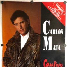 """Fotos de Cantantes: CARLOS MATA """"CAUTIVO"""" (1990). CARTEL PROMOCIONAL DEL ÁLBUM. PROTAGONISTA TELENOVELA CRISTAL.. Lote 225211200"""