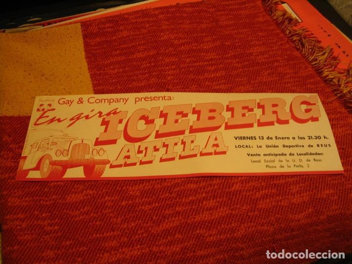 ICEBERG + ATILA BANDA CARTEL ORIGINAL REUS GIRA 1978 TOUR 20X61 (Música - Fotos y Postales de Cantantes)