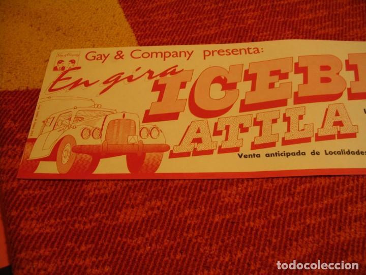 Fotos de Cantantes: ICEBERG + ATILA BANDA CARTEL ORIGINAL ZARAGOZA GIRA 1978 TOUR 20x61 - Foto 2 - 227559725