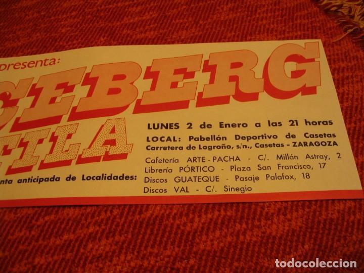 Fotos de Cantantes: ICEBERG + ATILA BANDA CARTEL ORIGINAL ZARAGOZA GIRA 1978 TOUR 20x61 - Foto 3 - 227559725