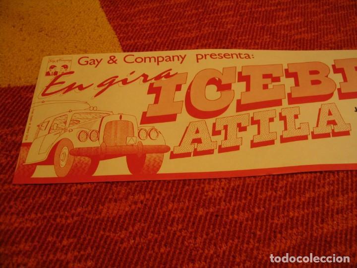 Fotos de Cantantes: ICEBERG + ATILA BANDA CARTEL ORIGINAL BILBAO GIRA 1978 TOUR 20x61 - Foto 2 - 227559945