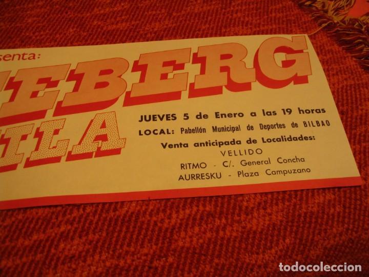 Fotos de Cantantes: ICEBERG + ATILA BANDA CARTEL ORIGINAL BILBAO GIRA 1978 TOUR 20x61 - Foto 3 - 227559945