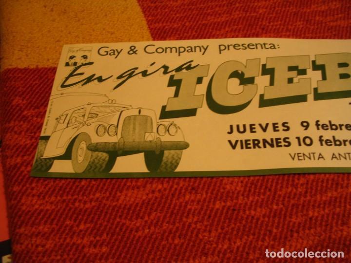 Fotos de Cantantes: ICEBERG BANDA CARTEL ORIGINAL TEATRO ALCALA MADRID GIRA 1978 TOUR 20x61 - Foto 2 - 227560690