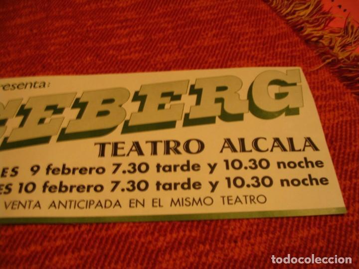 Fotos de Cantantes: ICEBERG BANDA CARTEL ORIGINAL TEATRO ALCALA MADRID GIRA 1978 TOUR 20x61 - Foto 3 - 227560690