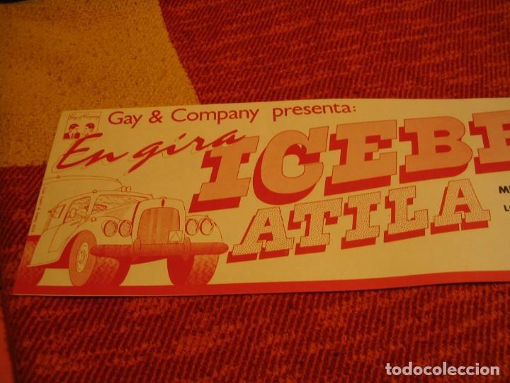 Fotos de Cantantes: ICEBERG + ATILA BANDA CARTEL ORIGINAL SAN SEBASTIAN GIRA 1978 TOUR 20x61 - Foto 2 - 227560879