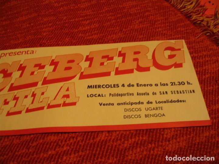 Fotos de Cantantes: ICEBERG + ATILA BANDA CARTEL ORIGINAL SAN SEBASTIAN GIRA 1978 TOUR 20x61 - Foto 3 - 227560879