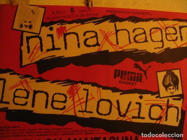 Fotos de Cantantes: NINA HAGEN & LENE LOVICH CARTEL ORIGINAL PAMPLONA GIRA 1986 TOUR 62X87 - Foto 3 - 227562486