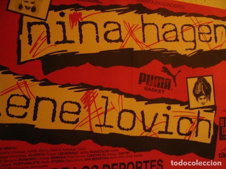 Fotos de Cantantes: NINA HAGEN & LENE LOVICH CARTEL ORIGINAL BILBAO GIRA 1986 TOUR 62X87 - Foto 4 - 227562550