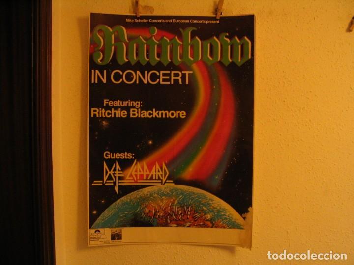 RAINBOW DEF LEPPARD CARTEL ORIGINAL ALEMANIA GIRA 1981 TOUR 84X66 (Música - Fotos y Postales de Cantantes)