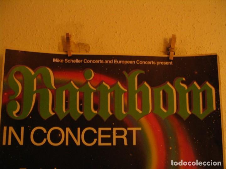 Fotos de Cantantes: RAINBOW DEF LEPPARD CARTEL ORIGINAL ALEMANIA GIRA 1981 TOUR 84X66 - Foto 2 - 227570470