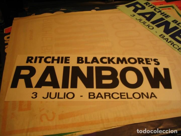 RITCHIE BLACKMORE´S RAINBOW BANDA CARTEL ORIGINAL GIRA BARCELONA 1981 TOUR 64X22 (Música - Fotos y Postales de Cantantes)