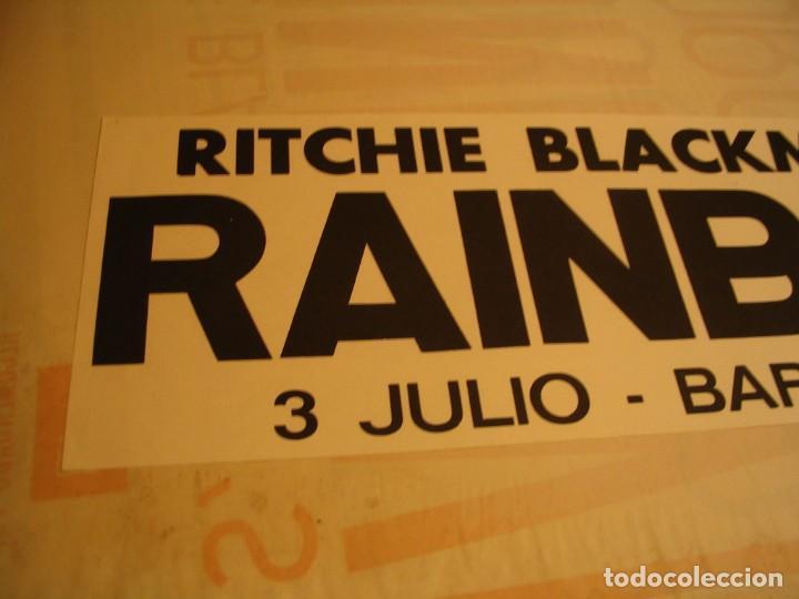 Fotos de Cantantes: RITCHIE BLACKMORE´S RAINBOW BANDA CARTEL ORIGINAL GIRA BARCELONA 1981 TOUR 64X22 - Foto 2 - 227571055