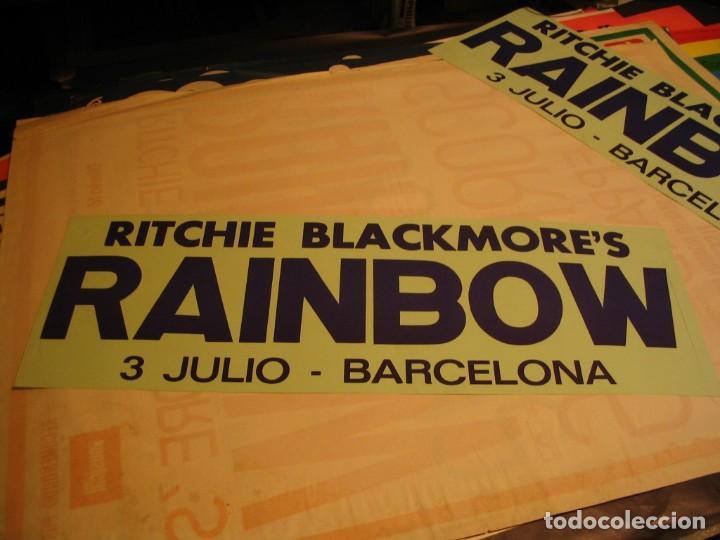 RITCHIE´S BLACKMORE RAINBOW BANDA CARTEL ORIGINAL GIRA BARCELONA 1981 TOUR 64X22 (Música - Fotos y Postales de Cantantes)