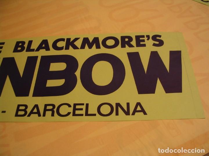 Fotos de Cantantes: RITCHIE´S BLACKMORE RAINBOW BANDA CARTEL ORIGINAL GIRA BARCELONA 1981 TOUR 64X22 - Foto 2 - 227571535