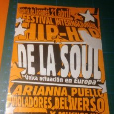 Fotos de Cantores: FLYER HIP HOP FESTIVAL INTERNACIONAL 2001 LA CUBIERTA LEGANES- DE LA SOUL-ARI-VIOLADORES DEL VERSO. Lote 227749725