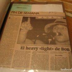 Photos de Chanteurs et Chanteuses: BON JOVI LOTE 40 RECORTES DE PRENSA GIRA 1989 MADRID BARCELONA SAN SEBASTIAN CLIPPINGS. Lote 230022370