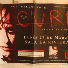 Fotos de Cantantes: THE CURE CARTEL ORIGINAL MADRID 2000 GIRA DREAM TOUR 90X130. Lote 232317710