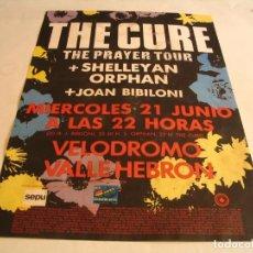 Foto di Cantanti: THE CURE CARTEL ORIGINAL BARCELONA 1989 GIRA PRAYER TOUR 46X33. Lote 232318970