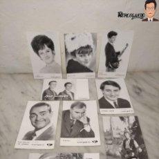 Fotos de Cantantes: COLECCIÓN 14 ANTIGUAS FOTO POSTALES DE DISCOS VERGARA (PROMOCIONALES) VARIOS ARTISTAS. Lote 232886620