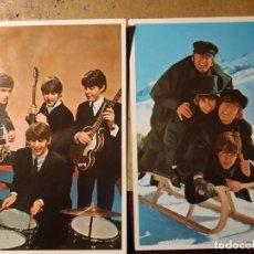 Fotos de Cantantes: LOTE DE 2 POSTALES DE THE BEATLES. EUROCROMO, 1966. 11 X 15 C/U. Lote 262238310