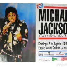 Photos de Chanteurs et Chanteuses: MICHAEL JACKSON. HISTÓRICO CARTEL ORIGINAL CONCIERTO VICENTE CALDERÓN (MADRID) EN 1988.. Lote 234302195