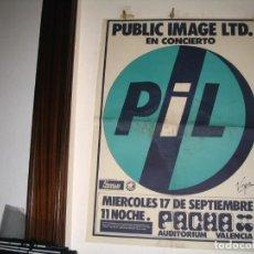Fotos de Cantantes: PIL PUBLIC IMAGE LTD CARTEL ORIGINAL 1986 PACHA VALENCIA 137X100 SEX PISTOLS. Lote 235290030