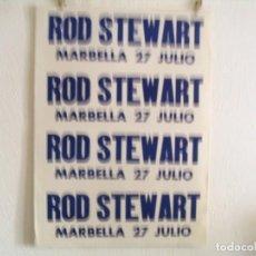 Fotos de Cantantes: ROD STEWART CARTEL ORIGINAL MARBELLA GIRA TOUR 27 JULIO 91X65. Lote 235292590