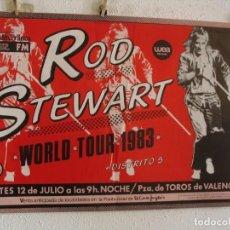 Fotos de Cantantes: ROD STEWART CARTEL ORIGINAL WORLD TOUR 1983 VALENCIA 68X96. Lote 235294445