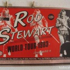 Fotos de Cantantes: ROD STEWART CARTEL ORIGINAL WORLD TOUR 1983 BARCELONA 68X96. Lote 235294880