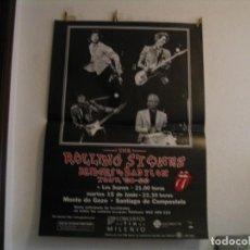 Fotos de Cantantes: THE ROLLING STONES + LOS SUAVES CARTEL ORIGINAL COMPOSTELA GIRA TOUR 125X89. Lote 235486945