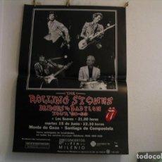 Fotos de Cantantes: THE ROLLING STONES + LOS SUAVES CARTEL ORIGINAL COMPOSTELA GIRA TOUR 125X89. Lote 235487085