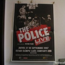 Fotos de Cantantes: THE POLICE CARTEL ORIGINAL BARCELONA GIRA TOUR 130X90. Lote 235487490