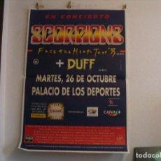 Fotos de Cantantes: SCORPIONS CARTEL ORIGINAL BARCELONA 1993 FACE THE HEAT GIRA TOUR 130X90. Lote 235488195