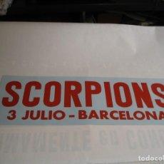 Fotos de Cantantes: SCORPIONS CARTEL ORIGINAL BARCELONA 3 JULIO GIRA TOUR 22X64. Lote 235488525