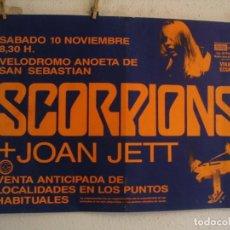 Fotos de Cantantes: SCORPIONS + JOAN JETT CARTEL ORIGINAL SAN SEBASTIAN 1984 GIRA TOUR 63X87. Lote 235491690