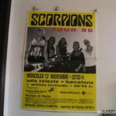 Fotos de Cantantes: SCORPIONS CARTEL ORIGINAL BARCELONA 1996 GIRA TOUR 127X90. Lote 235497190