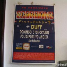 Fotos de Cantantes: SCORPIONS CARTEL ORIGINAL SAN SEBASTIAN 1993 GIRA TOUR 130X90. Lote 235497770