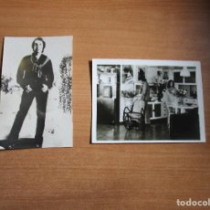Fotos de Cantantes: 2 FOTOS DE RAPHAEL UNA CON NATALIA EN CASA. Lote 235520080