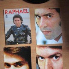 Fotos de Cantantes: 4 POSTALES DE RAPHAEL. Lote 235521140