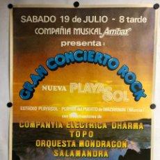 Fotos de Cantantes: MIGUEL RIOS + COMPAÑIA ELECTRICA DHARMA + TOPO + ORQUESTA MONDRAGON + SALAMANDRA. HISTÓRICO CARTEL C. Lote 235545020