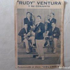 Fotos de Cantores: POSTAL PROMOCIÓN DEL GRUPO MUSICAL RUDY VENTURA Y SU CONJUNTO. Lote 236523955