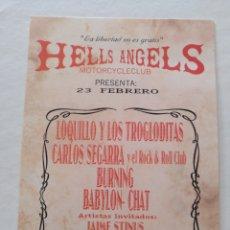 Foto di Cantanti: LOQUILLO Y TROGLODITAS HELLS ANGELS RAZZ MATAZZ POSTAL CONCIERTO. Lote 236720280
