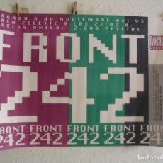 Fotos de Cantantes: FRONT 242 CARTEL ORIGINAL BARCELONA 1993 GIRA TOUR 97X68. Lote 236926275