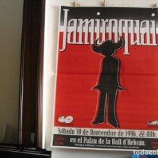 Foto di Cantanti: JAMIROQUAI CARTEL ORIGINAL BARCELONA 1996 CAMBIO DE SALA GIRA TOUR 140X100. Lote 237104595