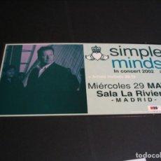 Foto di Cantanti: SIMPLE MINDS CARTEL ORIGINAL CARTULINA MADRID 2002 GIRA TOUR 45X23. Lote 237108395