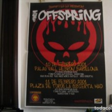 Fotos de Cantantes: THE OFFSPRING CARTEL ORIGINAL ESPAÑA 2001 GIRA TOUR 140X100. Lote 237331605