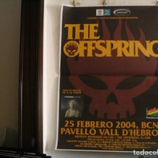 Fotos de Cantantes: THE OFFSPRING CARTEL ORIGINAL BARCELONA 2004 GIRA SPLINTER TOUR 140X100. Lote 237331895