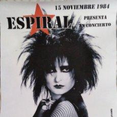 Fotos de Cantantes: MÍTICOS DE LOS 80'S. CARTEL SIOUXSIE & THE BANSHEES VALENCIA 1984. Lote 241811455