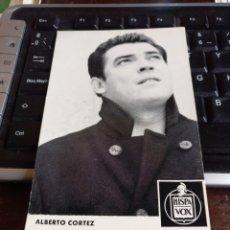 Fotos de Cantantes: ALBERTO CORTEZ. Lote 244188930